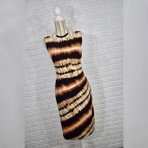 {anne klein} Striped Bodycon Dress